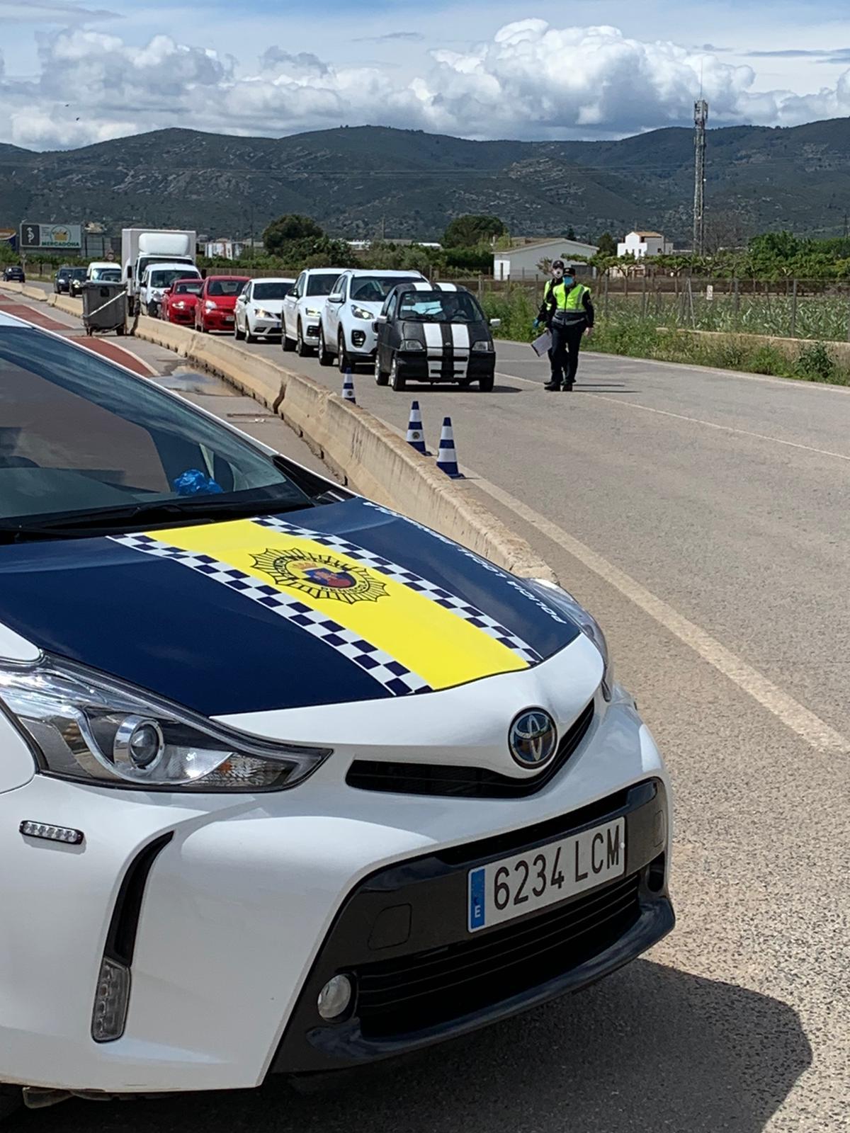 La Policia Local de Peníscola ha controlat 777 vehicles des de l'inici de l'Estat d'Alarma