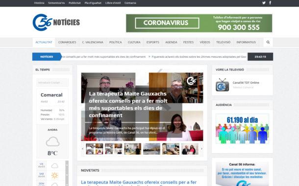 canal56.com creix significativament quant a usuaris i visites durant el primer trimestre de l'any