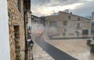 Desinfecció solidària de carrers a Tírig per a lluitar contra la COVID-19
