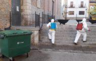 Santa Magdalena continua desinfectant les zones comunes més transitades de la població