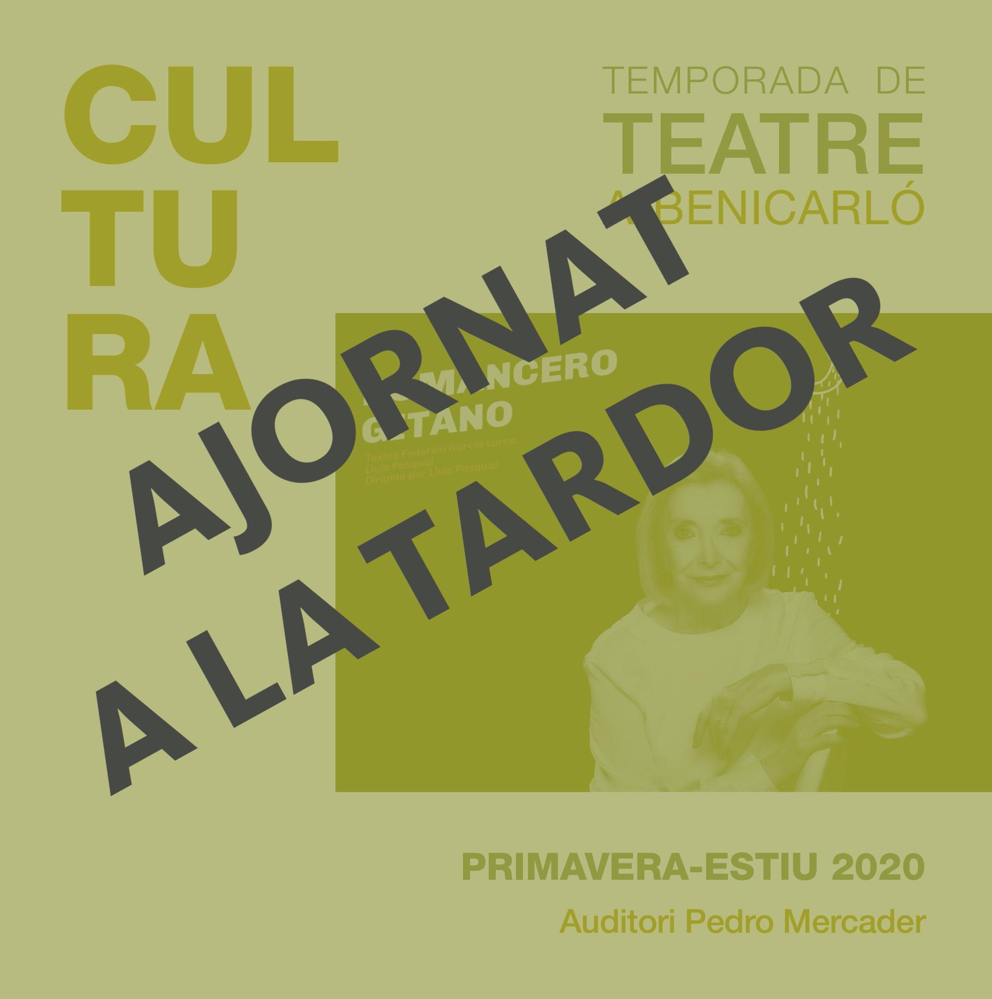 El Cicle de Teatre de Primavera de Benicarló es trasllada a la tardor