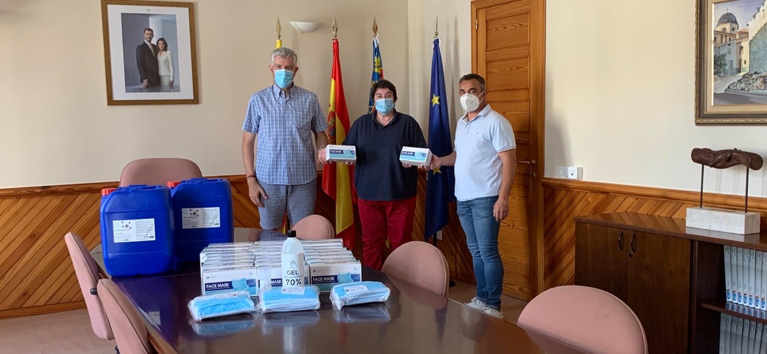 Les Coves agraeix a la 'Sociedad de Caza La Ligera' la seua col·laboració en la lluita contra la Covid-19