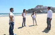 Peníscola es prepara per a l'obertura de les platges en la fase 2