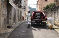 Els bombers del Parc comarcal realitzen una nova desinfecció a Santa Magdalena