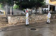 Bombers del Parc comarcal del Baix Maestrat desinfecten de nou Santa Magdalena