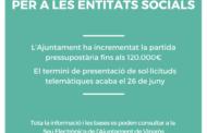 S'obre la convocatòria d'ajudes per a les entitats socials de Vinaròs
