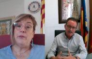 Ernestina Borràs i Francisco Juan Mars, alcaldessa i alcalde de Càlig i Alcalà-Alcossebre, respectivament, en L'Entrevista de Canal 56