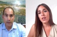 Javier Ferrer, alcalde de Traiguera, i Raquel París, regidora de Turisme de Peníscola, a L'ENTREVISTA de C56