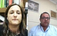 Isabel Albalat, alcaldessa d'Albocàsser, i Domingo Giner, alcalde de Sant Rafael del Riu, a L'ENTREVISTA de C56