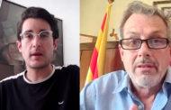 Marc Albella, regidor de Promoció de Vinaròs, i José Ramon Bellaubí, alcalde de La Sénia, a L'ENTREVISTA de C56