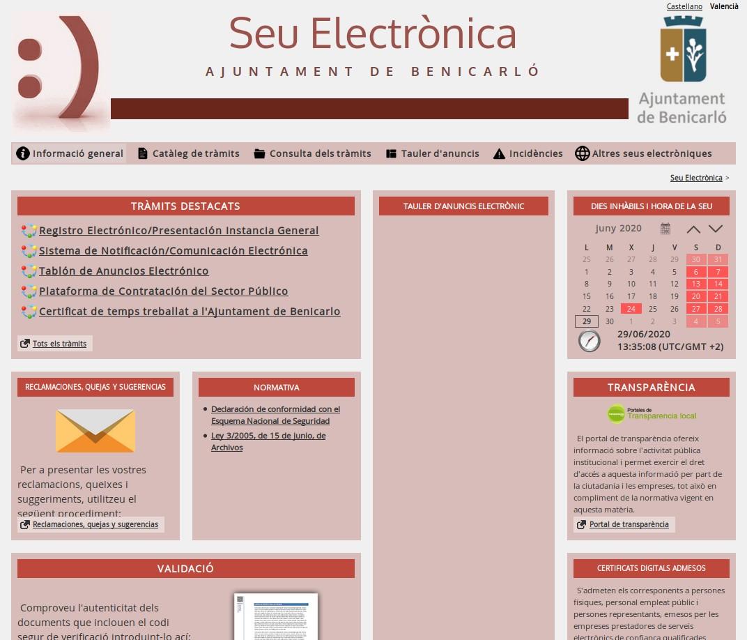 Arranca a Benicarló l'administració electrònica per a millorar l'eficàcia i el servei a la ciutadania