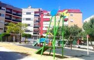 Nova tirolina al parc de la plaça dels Mestres del Temple de Benicarló