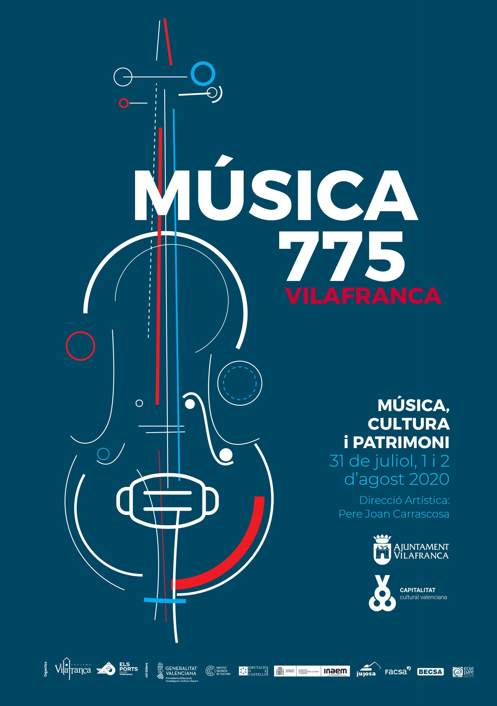 Entre el 31 de juliol i el 2 d'agost Festival de Música 775 a Vilafranca