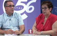 Josefa Gondomar, presidenta, i Antonio Sebastià, director, de Caixa Vinaròs, a L'ENTREVISTA de C56