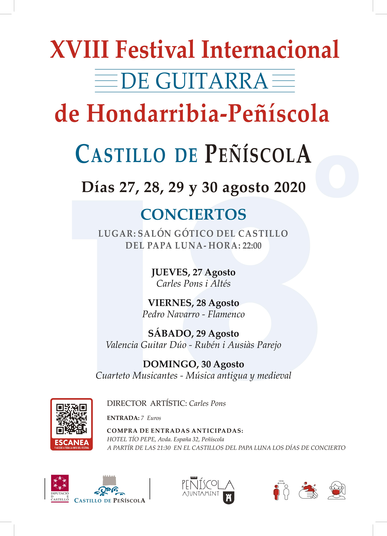 Peníscola celebrarà a l'agost el XVIII Festival Internacional de Guitarra d'Hondarribia - Peníscola