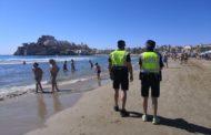 El dispositiu de platja a Peníscola s'enfoca a garantir les distàncies i la ubicació dels usuaris a 6 metres de l'aigua