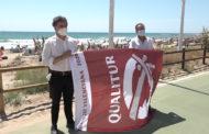 Alcossebre; Hissada de les banderes Qualitur en les platges d'Alcossebre 10-07-2020