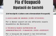 Benicarló contractarà set persones a través del Pla d'Ocupació de la Diputació