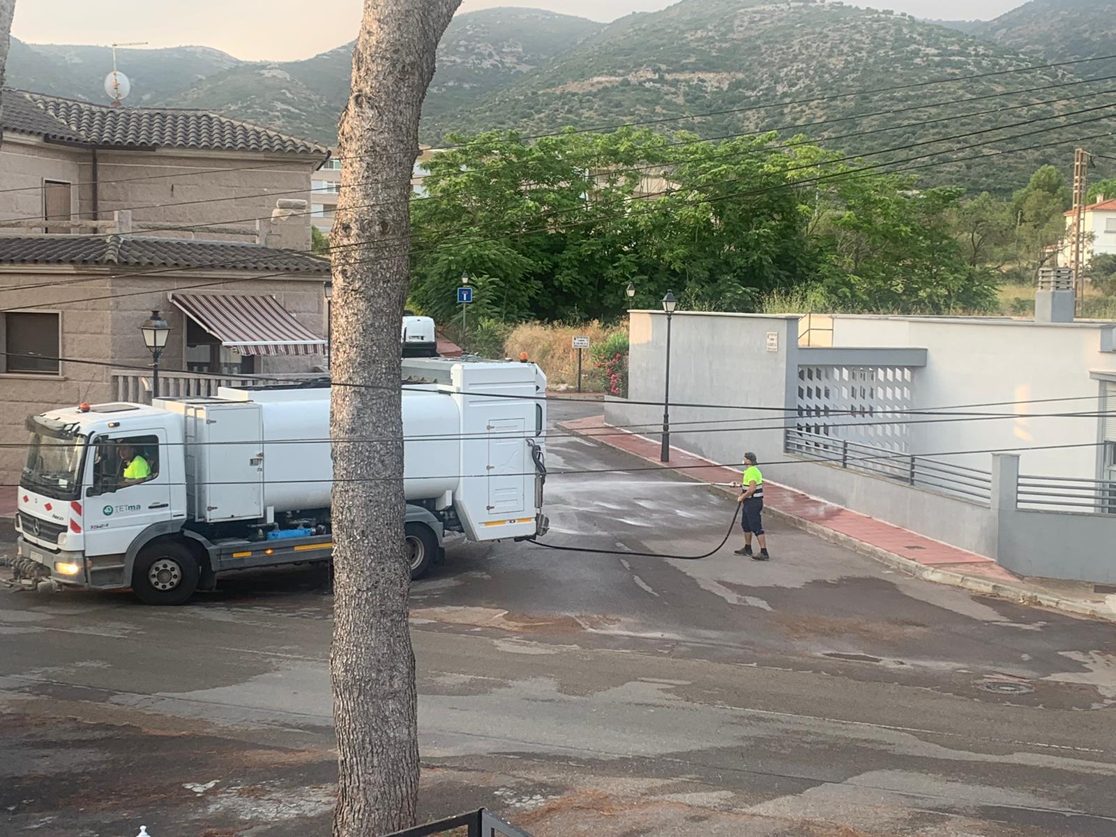Santa Magdalena desinfecta novament el nucli urbà