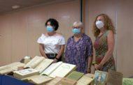 Vinaròs, roda de premsa de la Regidoria de Cultura (donació de llibres) 06-07-2020