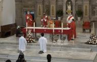 Benicarló; Missa en honor als patrons de Benicarló a l'església de Sant Bartomeu 24-08-2020