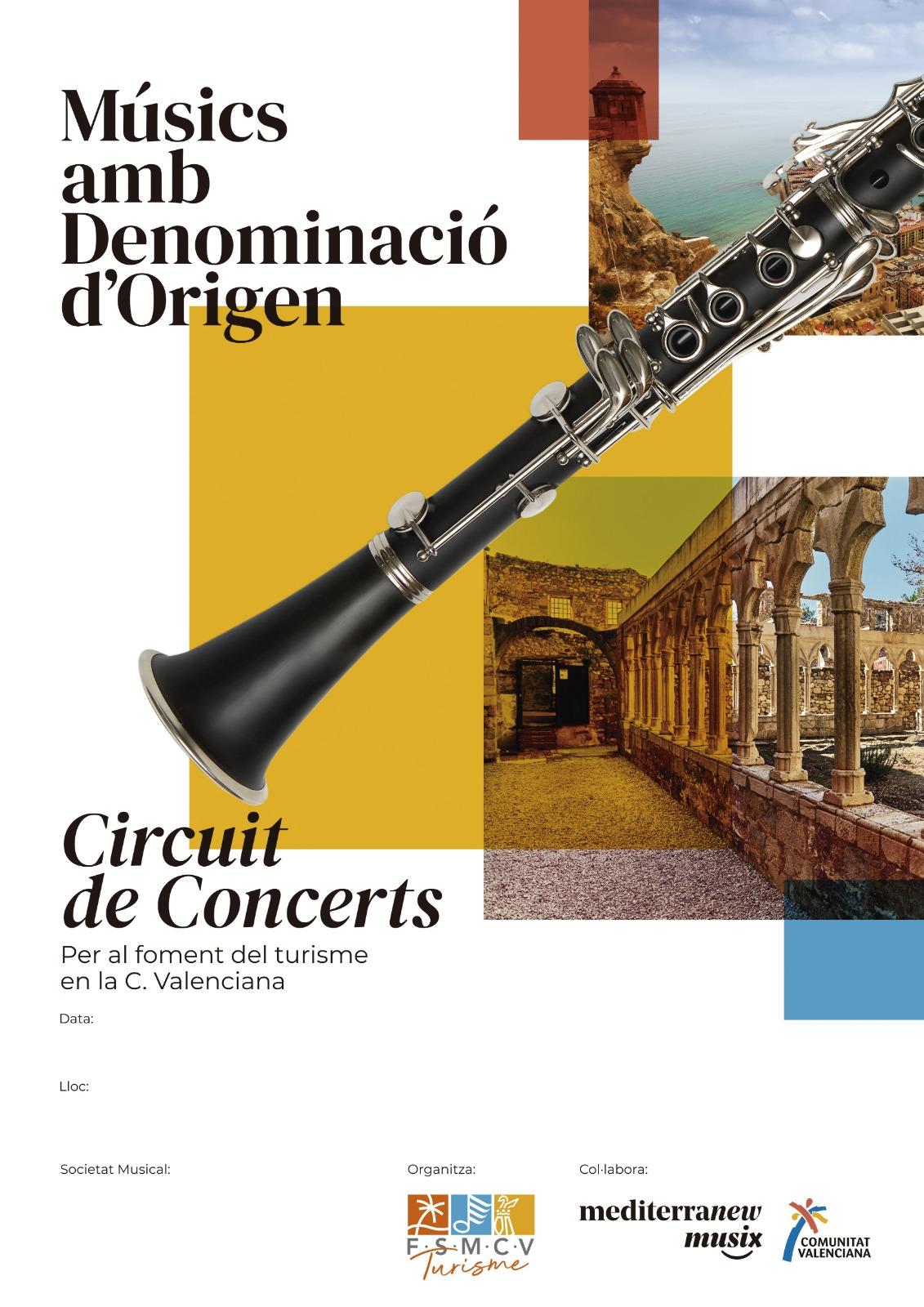 Més de 80 societats musicals participaran en el circuit de concerts 'Músics amb Denominació d'Origen'