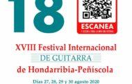 La 18a edició del Festival Internacional de Guitarra d'Hondarribia-Peníscola se celebrarà del 27 al 30 d'agost