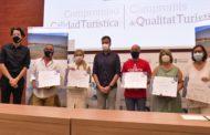 Vinaròs; Lliurament de diplomes a les empreses SICTED distinguides per la Secretària de l'Estat, per fer front la Covid-19  06-08-2020