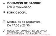 Nova campanya de donació de sang a Santa Magdalena