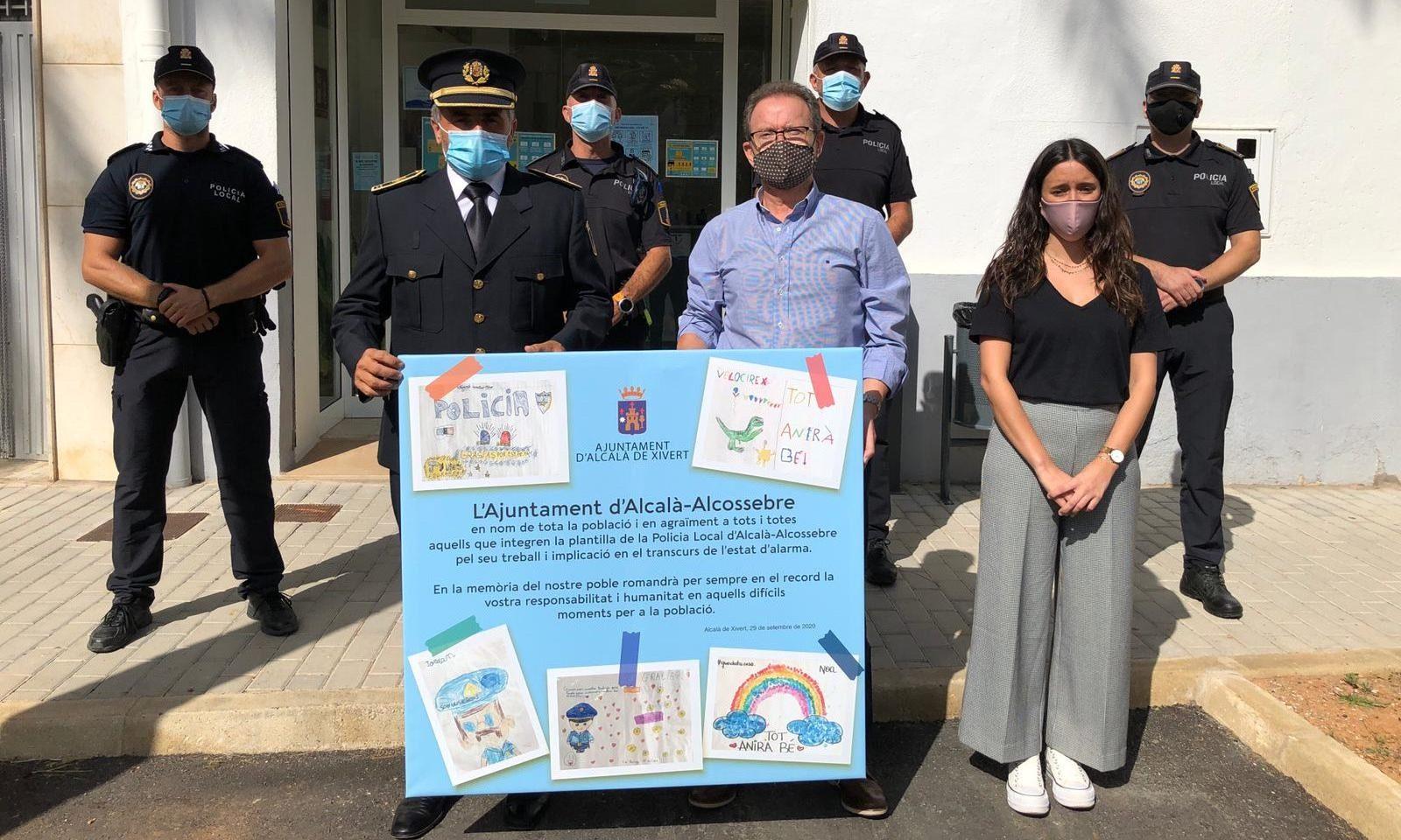 L'Ajuntament d'Alcalà-Alcossebre reconeix a la Policia Local el seu paper durant l'alarma sanitària