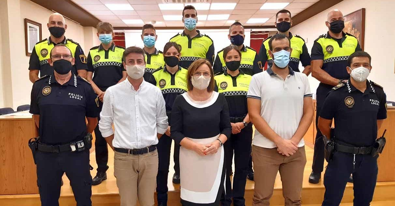 Prenen possessió del càrrec nou agents de la Policia Local de Benicarló incorporats per torn lliure