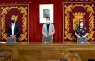 Vinaròs: reunió dels alcaldes de Vinaròs, Ulldecona i Alcanar a l'Ajuntament de Vinaròs 22-09-2020