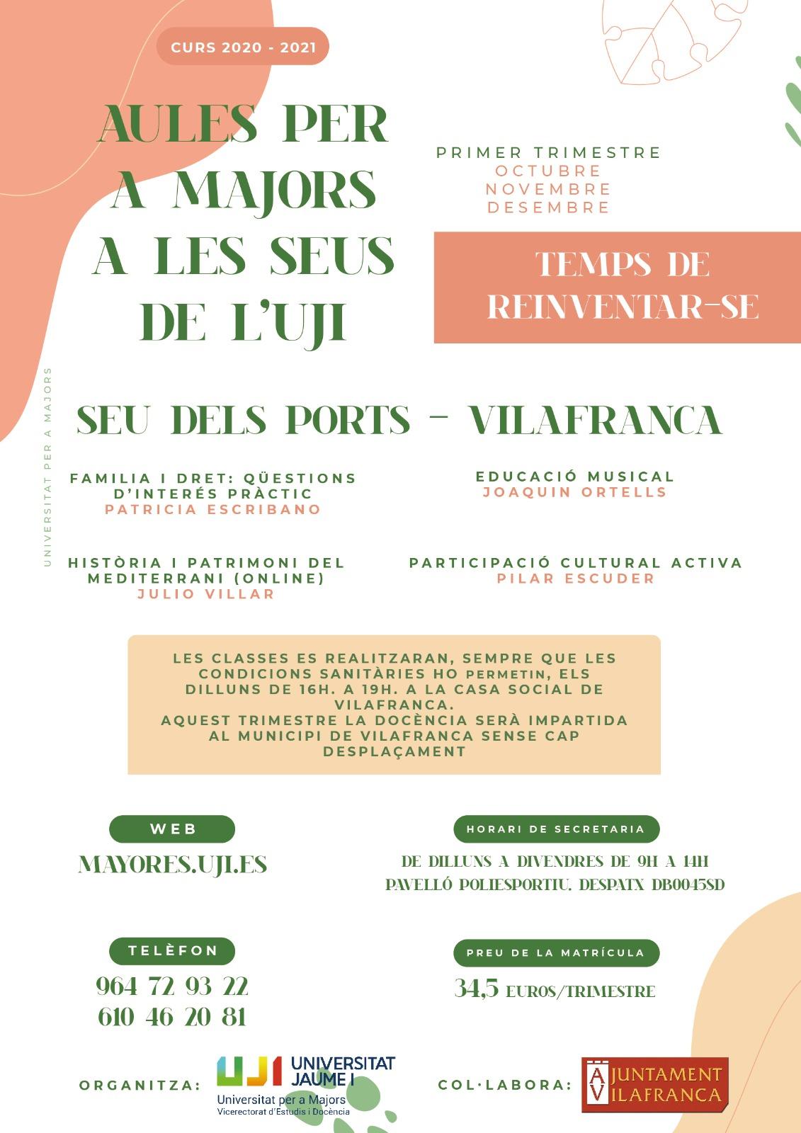 La seu dels Ports de l'UJI per a majors a Vilafranca