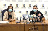 Benicarló; Roda de premsa de l'alcaldessa i el regidor  d'Esports sobre el futur de la piscina municipal 28-09-2020