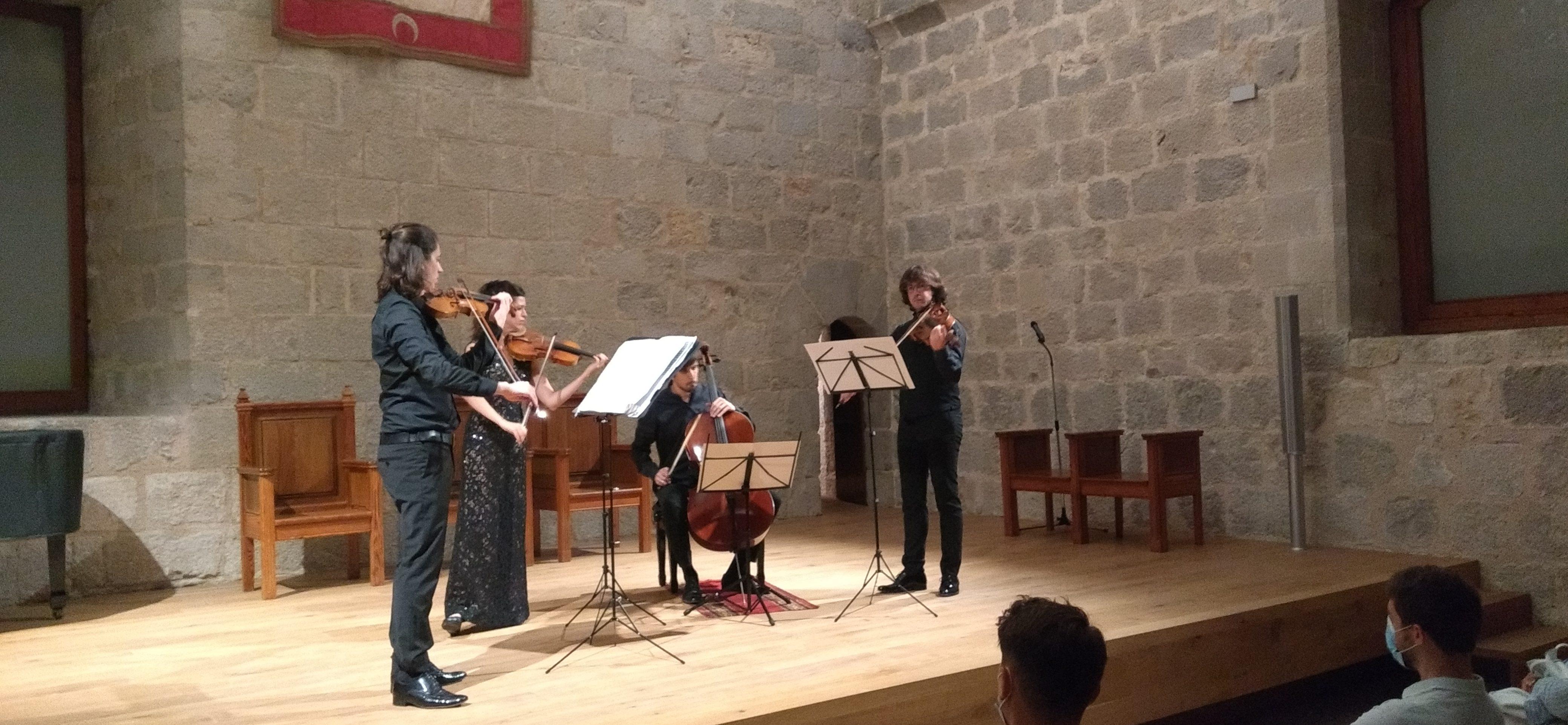 El jove talent de QuartetGerhardobre el Cicle de Concerts de Música Clàssica de Peníscola