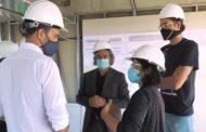 Visita a la Residència de Majors a Vinaròs per veure l'evolució de les obres 04-09-2020