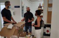 L'Ajuntament d'Alcanar reparteix 1400 equips anti-Covid-19 als centres educatius