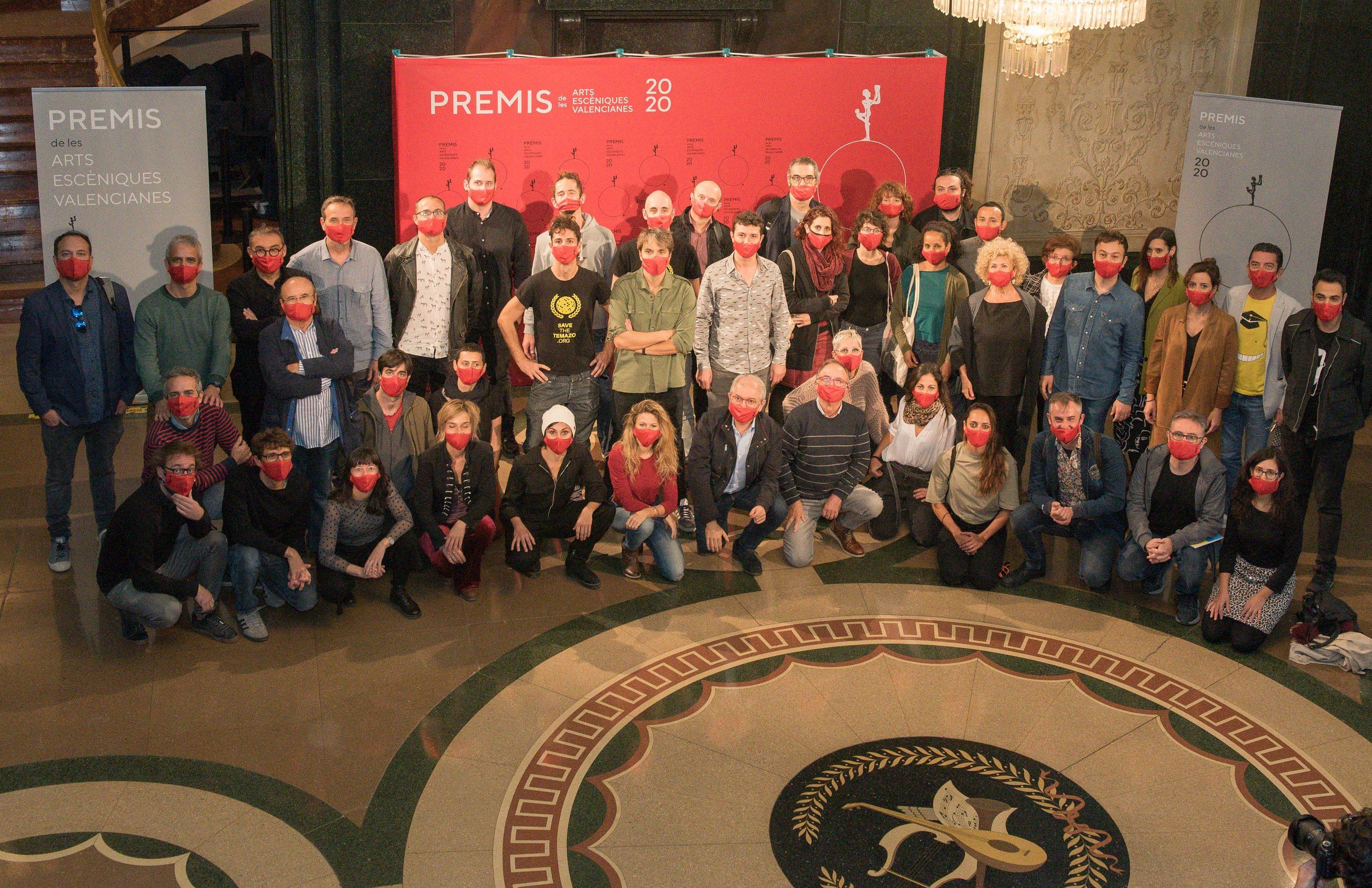 Artistes nominats als Premis de les Arts Escèniques Valencianes es reuneixen en el Teatre Principal