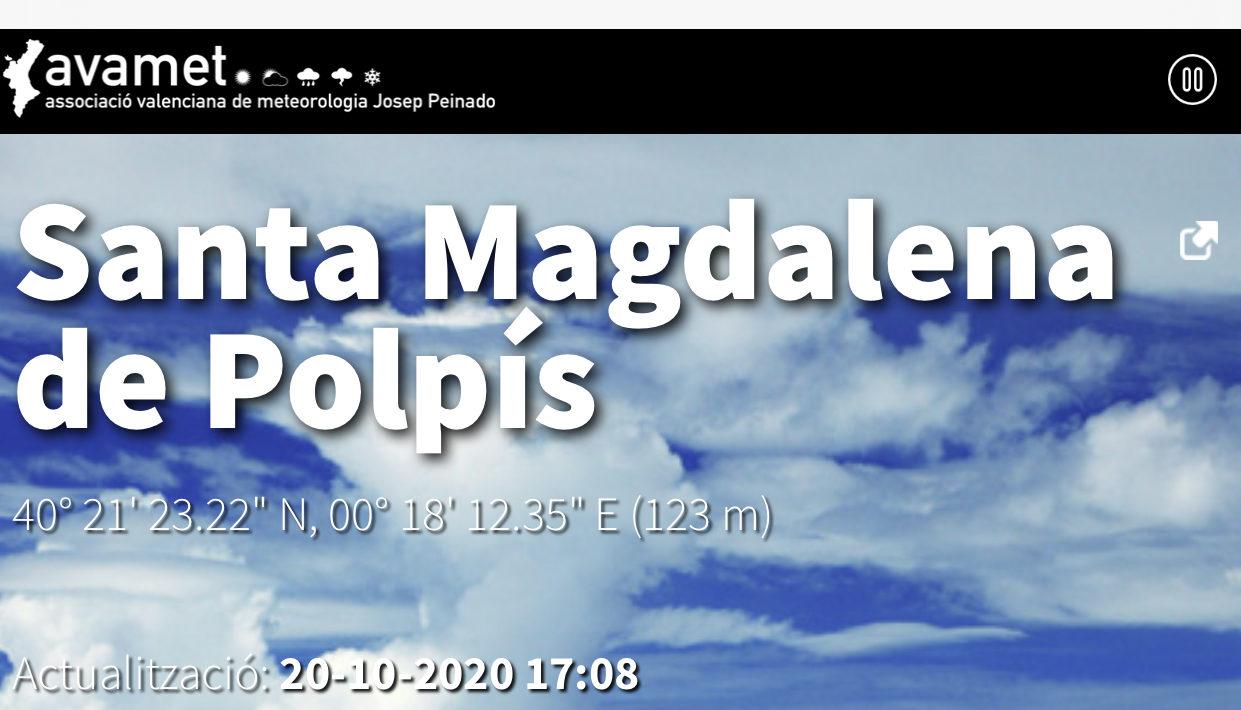 Santa Magdalena entra a formar part de l'Associació Valenciana de Meteorologia (AVAMET)