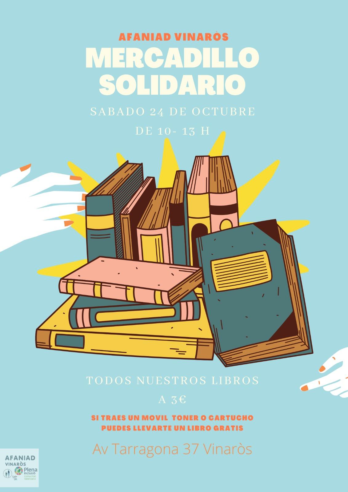 Afaniad Vinaròs celebra el dissabte el Mercat Ambulant Solidari