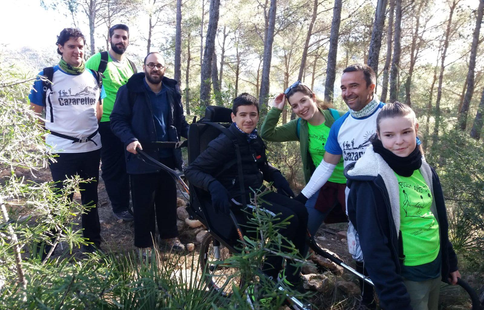 El Parc Natural de la Serra d'Irtaofereix la possibilitat de visitar el paratge amb la cadira CRAN