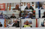 El cap de la Policia Local de Vinaròs participa en una reunió amb el Centre Coordinador d'Emergències