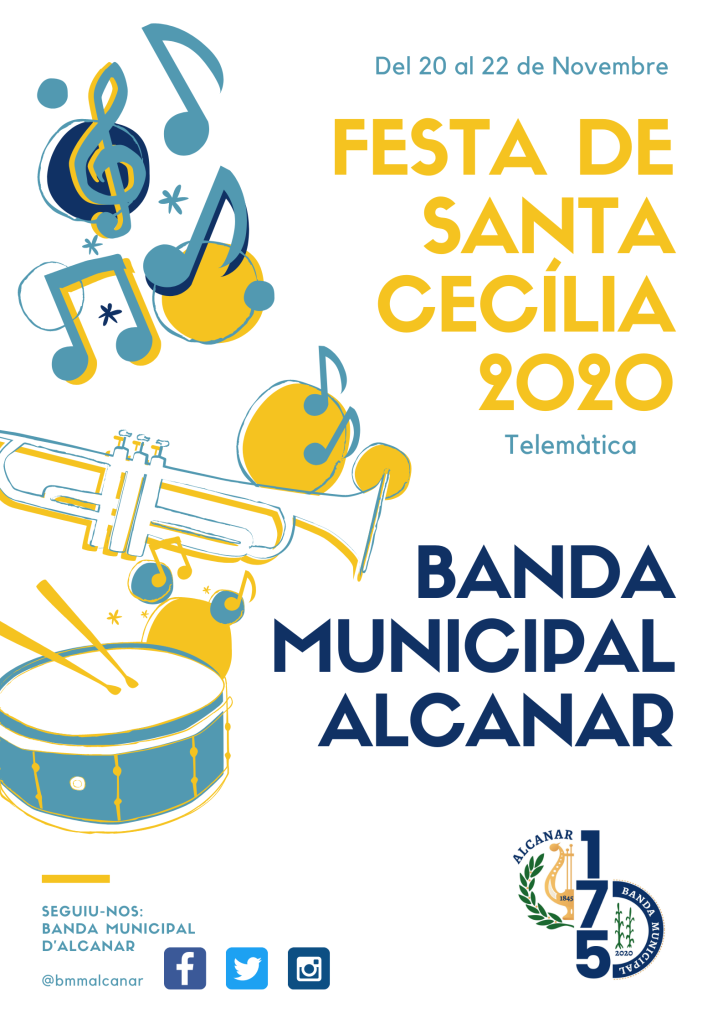 Una Santa Cecília 2020 telemàtica a Alcanar