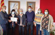 L'Ajuntament de Càlig dóna 5.700 euros a dos associacions socials procedents de la recaptació de Festes