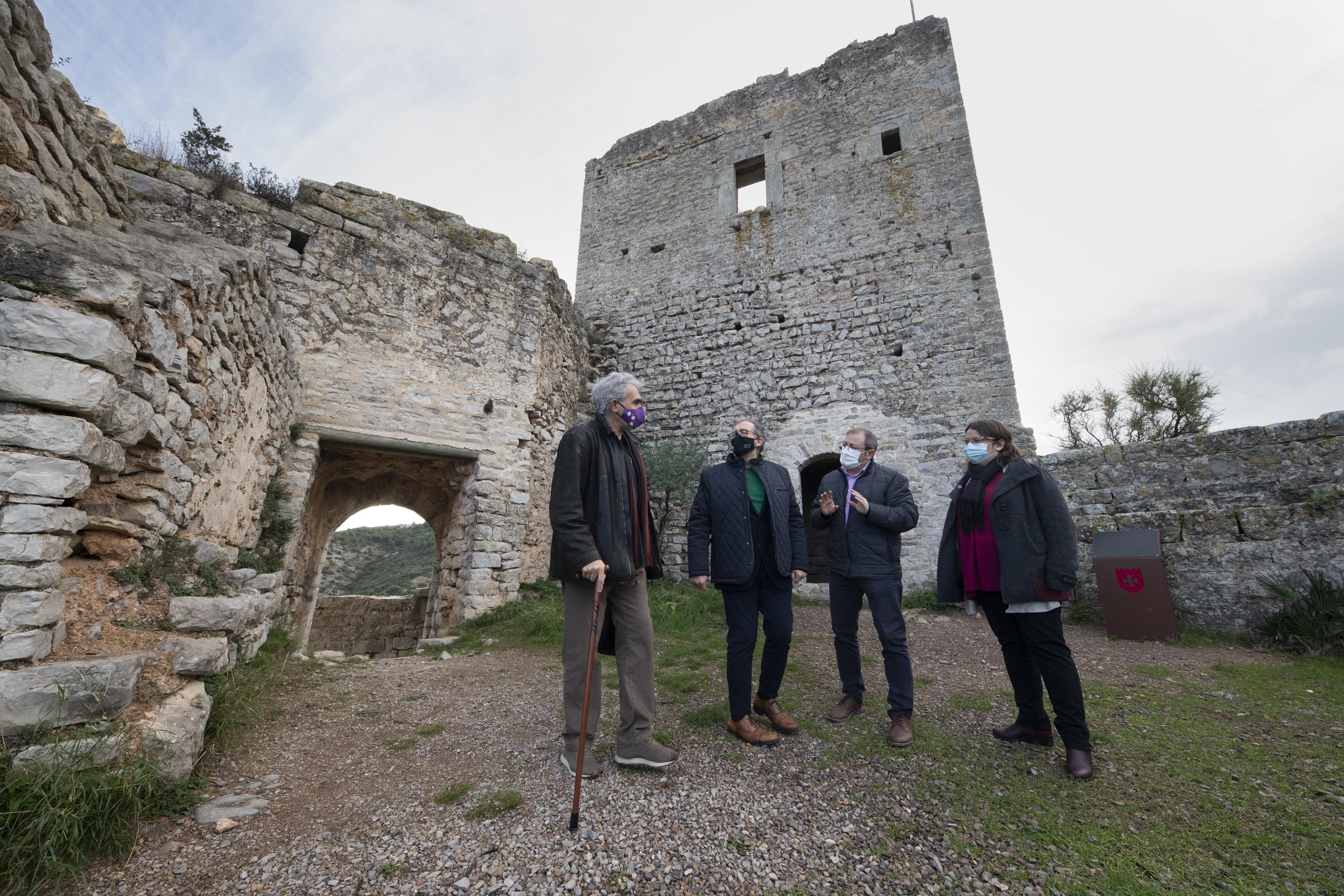 La Diputació aposta per la recuperació dels castells de Xivert i Santa Magdalena com a reclam turístic