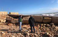 Alcalà-Alcossebre valora en 192.908 euros els danys provocats en la costa pel temporal Filomena