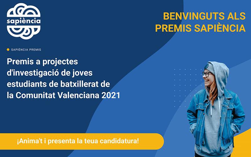 La Conselleria d'Innovació iRUVIDobrin el termini de presentació de candidatures als premis 'Sapiència'