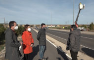 Benicarló; Visita als treballs d'instal·lació dels fanals a la carretera del Polígon Industrial de Benicarló 21-01-2021