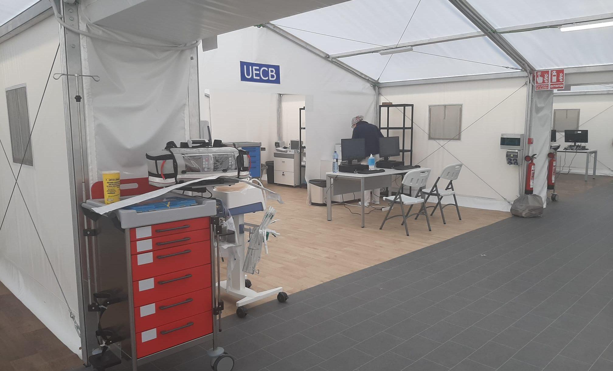L'hospital de campanya de la província de Castelló inicia l'activitat d'hospitalització de pacients ambCOVID-19