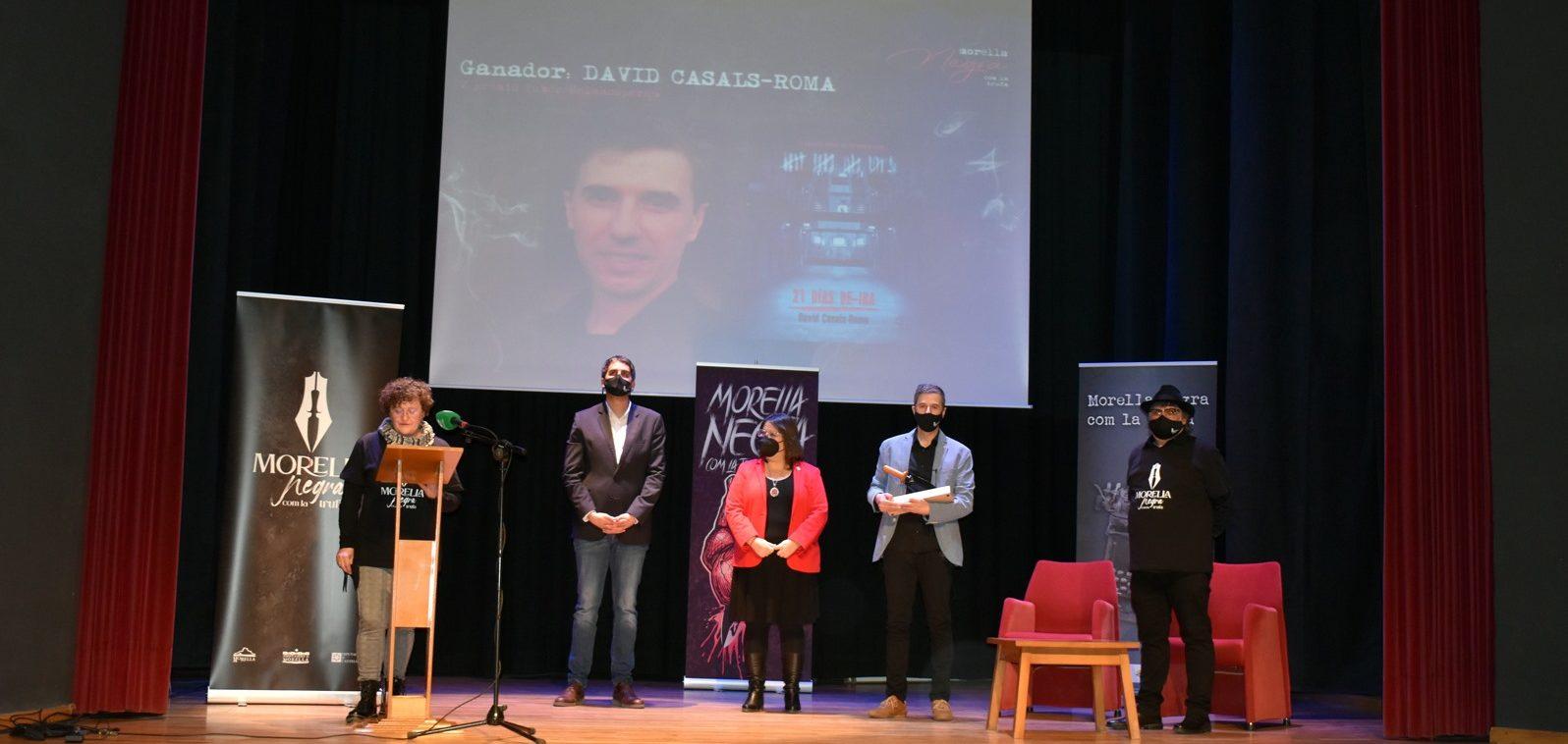 David Casals-Roma, guanya el Tuber Melanosporum 2021 de Morella amb la novel·la '21díasde ira'